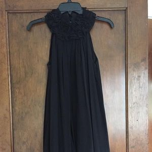 French Connection black ruffle dress size 0